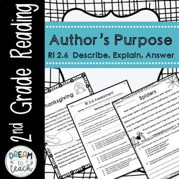 RI 2.6 Author's Purpose - Describe, Explain, Answer