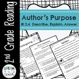 RI 2.6 Author's Purpose - Describe, Explain, Answer