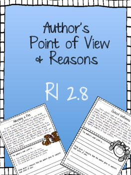 RI 2.8 Author's Point of View & Reasons