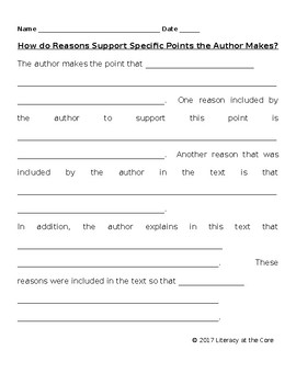 RI.2.8 Describe how reasons support specific points the author makes in the text