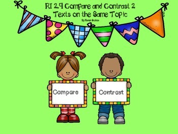 RI 2.9 Compare Contrast 2 Texts on the Same Topic Assessment / Practice