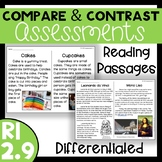 RI 2.9 Compare and Contrast Assessments - Reading Passages with Comprehension