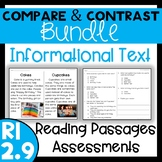 RI 2.9 Compare and Contrast Bundle - Reading Passages & Assessments
