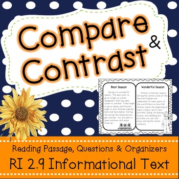 RI 2.9 Comparing & Contrasting Text with Similar Topics