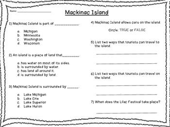 RI 2.9 Informational Text - Mackinac Island