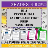 Test Prep Central Idea Task Cards