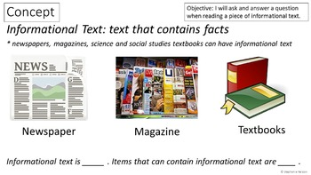 RI 3.1 PowerPoint: Ask and Answer Questions in Informational Text