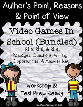 RI 3.6 & RI 3.8 Author's Point, Reasons, & Point of View