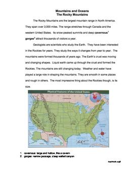 Gr3 Oceans & Mountains RI.3.7, RI.3.8, RI.3.9 Common Assessment