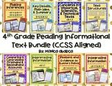 RI 4.1 - RI 4.9 Reading Informational Text Bundle (4th Gra