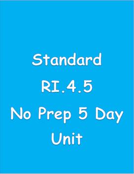 RI.4.5 Text Structure 5 Day - No Prep Unit