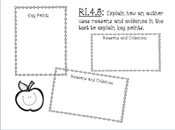 RI.4.8- Evidence to Support Points in Text: Powerpoint, Practice, and Printable