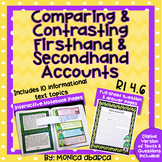 RI4.6/ RI 4.6 Comparing & Contrasting Firsthand and Second
