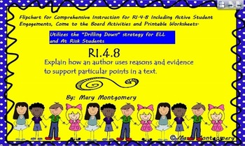R.I. 4.8 Explain how an author uses reasons and evidence t