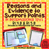 RI 4.8/ RI4.8 & RI 5.8/ RI5.8 Reasons & Evidence to Support Points