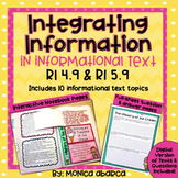RI4.9/ RI 4.9 and RI5.9/ RI 5.9 Integrating Information/Combining Text