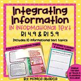RI4.9/ RI 4.9 and RI5.9/ RI 5.9 Integrating Information (D