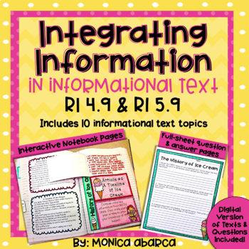 RI4.9/ RI 4.9 and RI5.9/ RI 5.9 Integrating Information/Co