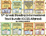 RI 5.1 - RI 5.9 Reading Informational Text Bundle (5th Grade CCSS Aligned)
