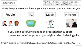 RI 5.8 PowerPoint: Reasons and Evidence