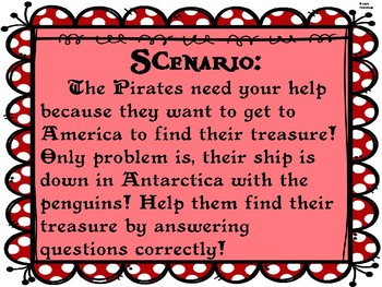 RI.5 Pirates Hunt for text features treasure teacher vs. student game