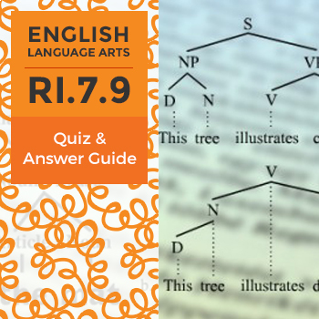 RI.7.9 - Quiz and Answer Guide