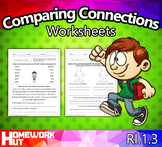 RI.1.3 - Comparing and Contrasting Connections Worksheets