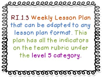 RI.1.3. Cause and Effect Five Day Lesson Plan