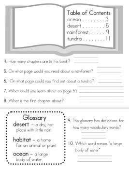 RI.1.5 Nonfiction Text Features Assessment