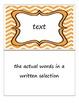 Distinguish Between Information in Illustrations vs. Text