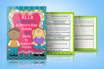 RI.1.8 Author's Points and Supporting Facts Graphic Organizers