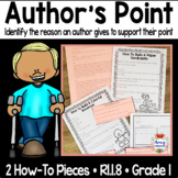 RI.1.8 Identify The Reasons An Author Gives To Support Points In A Text
