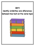 RI1.9  Identifying Basic Similarities and Differences Between Two Stories