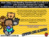 RI2.2 & RI2.3 Main Idea w/Animal LIfe Cycle Gradual Release 4-Day Lesson Plans