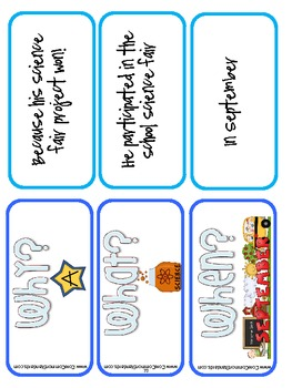 RI.2.1 Second Grade Common Core Worksheets, Activity, and Poster