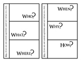 RI2.1 Who, What, When, Where, Why, How Graphic Organizer