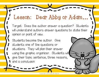 RI.2.6 Author's Purpose for Informational Text: Answer, Explain, or Describe