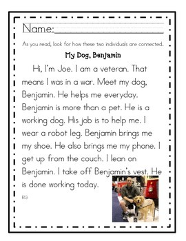 RI3 First Grade Reading Passages by First Grade Friendzy | TpT