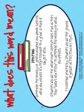 RI.3.4 Third Grade Common Core Worksheets, Activity, and Poster