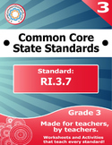 RI.3.7 Third Grade Common Core Bundle - Worksheet, Activity, Poster, Assessment