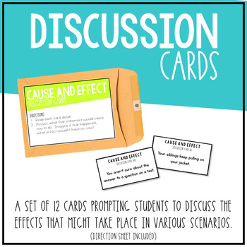 RI.3.8 - Cause and Effect Craze! Discussion Cards for Students & a Matching Game