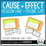RI.3.8 - Cause and Effect Craze! Discussion Cards for Stud