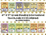 RI4.1/RI5.1 - RI4.9/RI5.9 Reading Informational Text Bundle (4th/5th Grade CCSS)