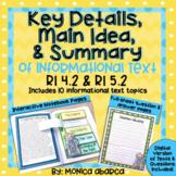 RI4.2/ RI 4.2 and RI5.2/ RI 5.2 Key Points, Main Idea, & S