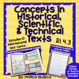 RI.4.3/ RI 4.3 Concepts in Historical, Scientific, & Technical Text