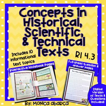 RI.4.3/ RI 4.3 Concepts in Historical, Scientific, & Technical Text