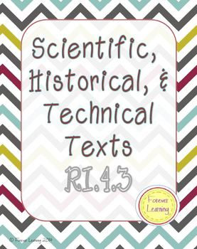 Ri 4 3 4 Ri 3 Scientific Historical Technical Text Informational Text
