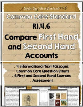 RI.4.6 Comparing Firsthand and Secondhand Sources