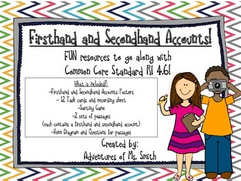 RI4.6 Firsthand and Secondhand Accounts Pack!
