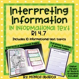 RI.4.7/ RI 4.7 Interpreting Information in Informational Text